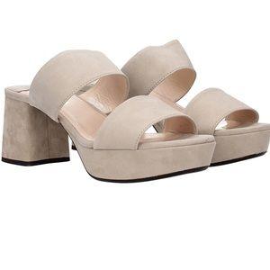 Prada Platform Sandal Quarzo SIze 7 EU 37